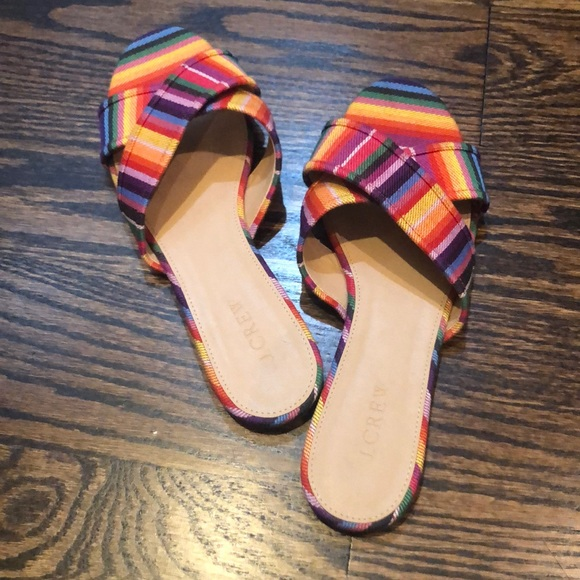 J. Crew Shoes - Cute J.Crew Rainbow Sandals - Great Condition!